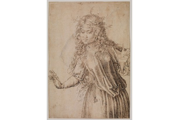 Albrecht Dürer (1471-1528), A Wise Virgin (recto), 1493. Pen and brown ink, 291 x 200 mm. Samuel Courtauld Trust, The Courtauld Gallery, London, D.1978.PG.251.