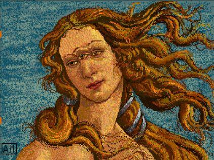Warhol's Venus as drawn on the Amiga computer.