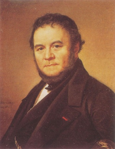 Busting with Passion.  Stendhal, by Olof Johan Södermark, 1840. 62 x 53 cm. Oil on canvas.
