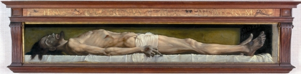 Hans Holbein the Younger, The Body of the Dead Christ in the Tomb 1521, Oil on limewood, 30.5 x 200 cm