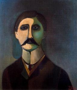 Portrait of Marcel Proust by Richard Lindner.