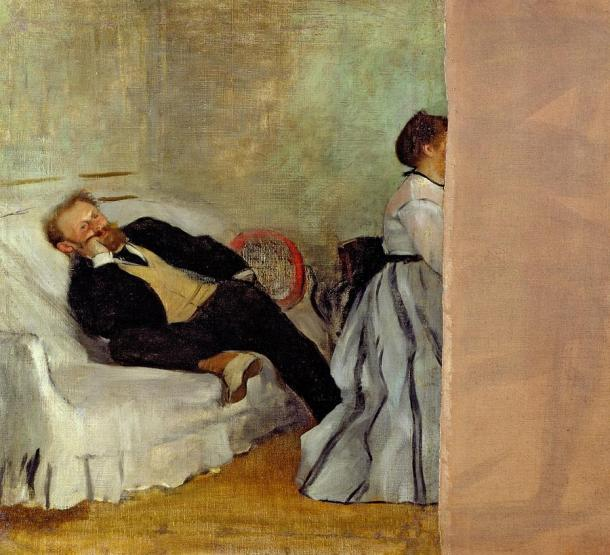 Sorry, Manet... Monsieur et Madame Édouard Manet, 1868-1869, Oil on canvas, 65 x 71 cm, Kitakyushu Municipal Museum of Art, Kitakyushu
