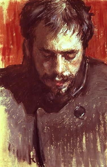 Overreaction? Portrait of Alexandre Benois by Leon Bakst, 1894, crayon on paper.