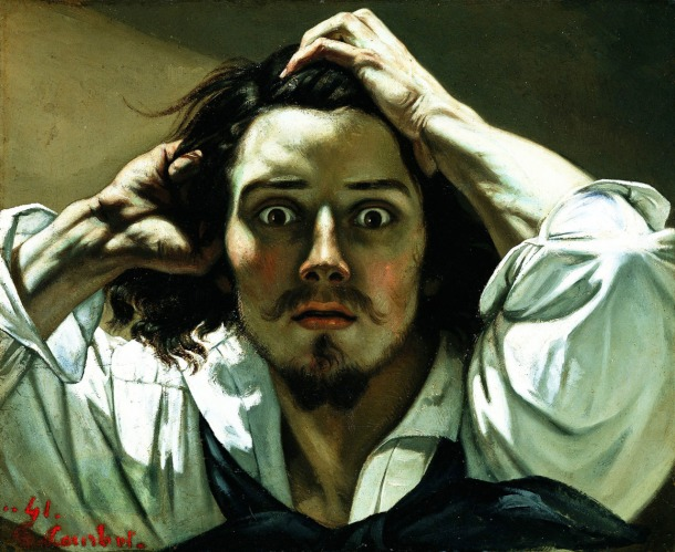 Gustave Courbet - Self-Portrait (The Desperate Man), 1843-45. Oil on canvas