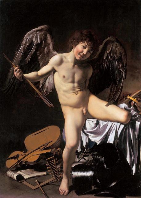 Caravaggio, Amor Vincit Omnia 1602-03, Oil on canvas, 156 x 113 cm Staatliche Museen, Berlin