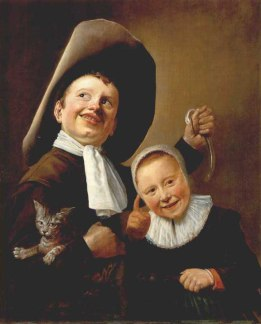 A Boy and a Girl with a Cat and an Eel, Oil on wood, 59 x 49 cm, National Gallery, London